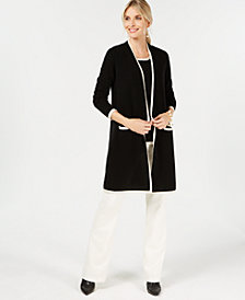 Charter Club Pure Cashmere Completer Sweater, Created for Macy's