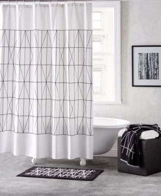 "Geometrix Cotton 72"" x 72"" Shower Curtain"