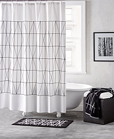"DKNY Geometrix Cotton 72"" x 72"" Shower Curtain"