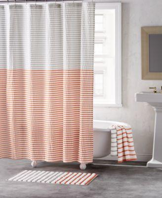 "Parsons Cotton Colorblocked Stripe 72"" x 72"" Shower Curtain"