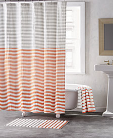 DKNY Parsons Cotton Colorblocked Stripe 72 X Shower Curtain