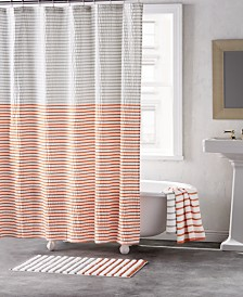 DKNY Parsons Cotton Colorblocked Stripe Bath Collection