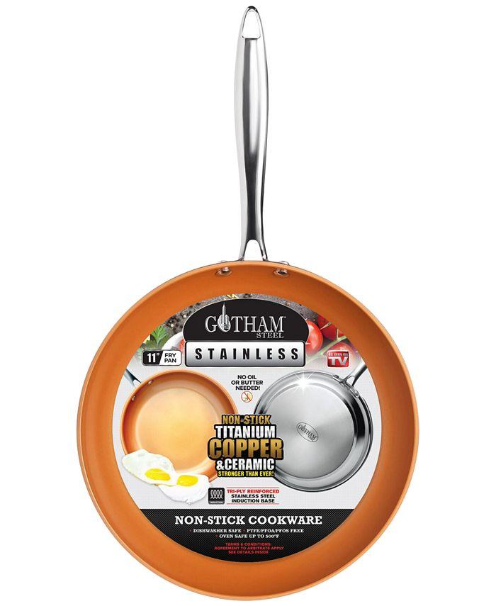 """Gotham Steel - Stainless Steel 11"""" Fry Pan"""