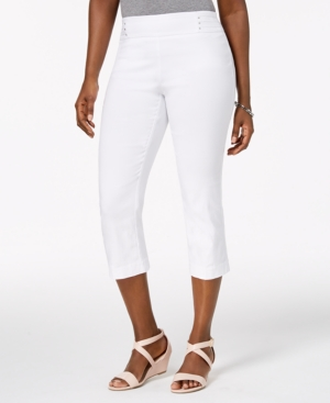 Embellished Pull-On Capri Pants