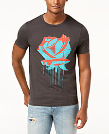 GUESS Men's Rose Drip Graphic-Print T-Shirt