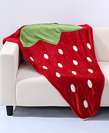 "Berkshire VelvetLoft Strawberry 44"" x 50"" Foot Pocket Throw"