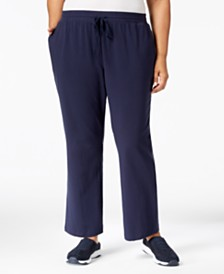 fa7ee5beb8700 Karen Scott Plus Size Drawstring Waist Soft Pants