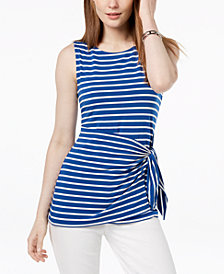 Tommy Hilfiger Striped Sarong-Tie Top, Created for Macy's