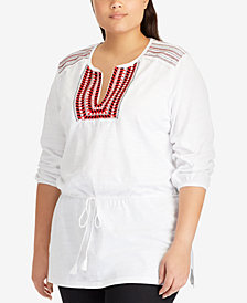 Lauren Ralph Lauren Plus Size Cotton Tunic