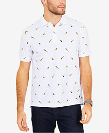 Nautica Men's Oar-Print Polo