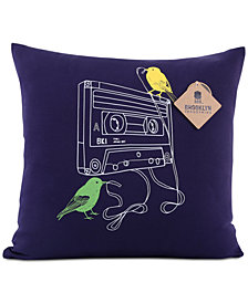 "Berkshire Brooklyn Industries Tape Snack 20"" Square Decorative Pillow"