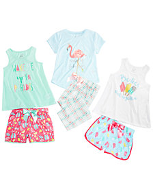 Max & Olivia Little & Big Girls Pajama Tanks, T-Shirts, Shorts & Pants, Created for Macy's