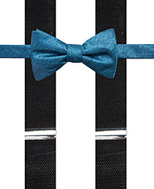 Alfani Men's Textural Pre-Tied Bow Tie & Suspender Set, Created for Macy's