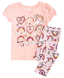 Epic Threads Little Girls Graphic-Print T-shirt & Printed Leggings, Created for Macy's