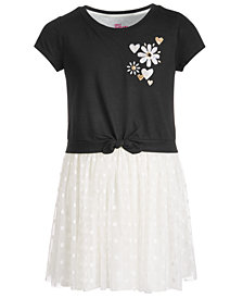 Epic Threads Big Girls Layered-Look Dot Mesh Dress, Created for Macy's