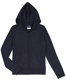 Nautica Big Girls Plus Zip-Front Hooded Sweater