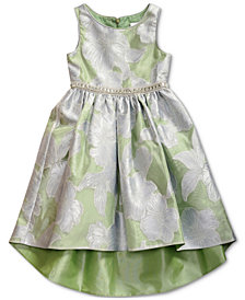 Sweet Heart Rose Toddler Girls Floral-Print High-Low Hem Dress