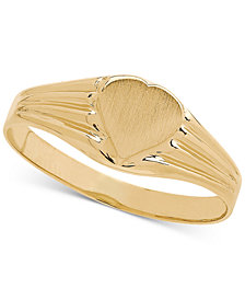 Heart Signet Ring in 14k Gold