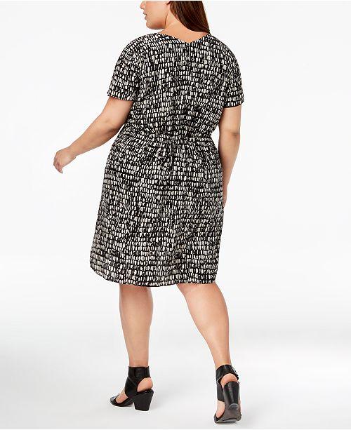 Eileen Fisher Plus Size Silk Printed Dress Dresses Plus Sizes