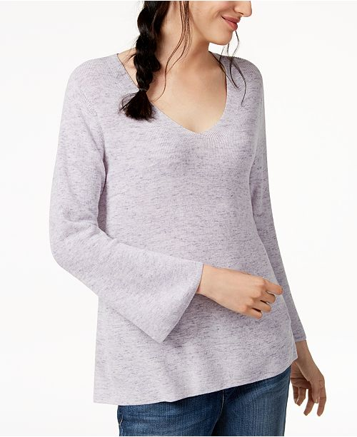 amp; Fisher Cotton Eileen Organic Sweater Petite Wisteria Regular Swa7qw