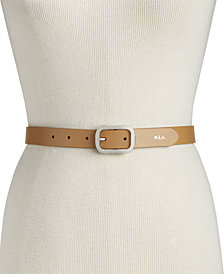 Lauren Ralph Lauren Saffiano Leather Belt