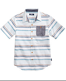 Univibe Big Boys Mykonos Striped Cotton Shirt