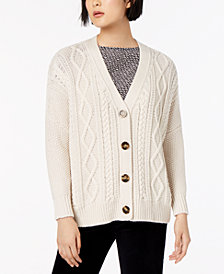 Weekend Max Mara Dover Wool Cable-Knit Cardigan