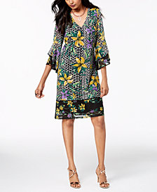 Thalia Sodi Ruffled-Sleeve Dress, Created for Macy's