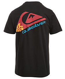 Quiksilver Men's Hibiscus Logo-Print T-Shirt