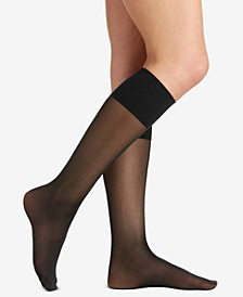 Women's Plus Size Comfy Cuff Sheer Graduated Compression Trouser Sock 5202