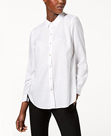 Eileen Fisher Tencel® Long-Sleeve Shirt, Regular & Petite