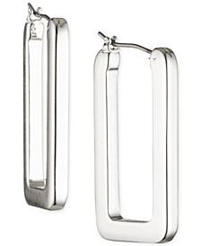 Geometric Link Hoop Earrings