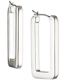 Lauren Ralph Lauren Geometric Link Hoop Earrings