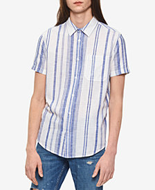 Calvin Klein Jeans Men's Beach Striped Shirt