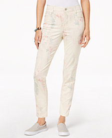 Style & Co Petite Printed Slim-Leg Ankle Jeans, Created for Macy's
