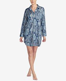 Lauren Ralph Lauren Cotton Classic Woven Printed Sleepshirt