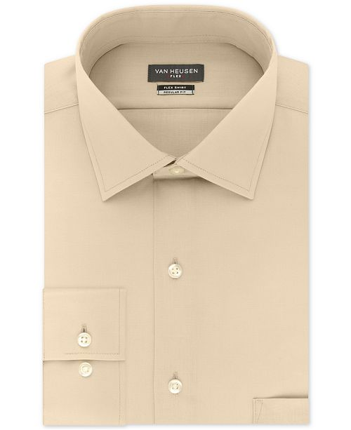 a2670943 ... Van Heusen Men's Big and Tall Classic-Fit Wrinkle Free Flex Collar  Stretch Solid Dress ...