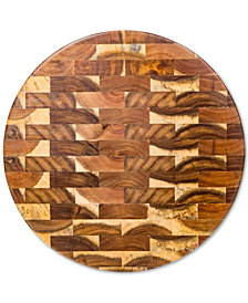 Home Essentials Round Acacia End Grain Cutting Board