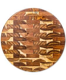 Home Essentials Round Acacia End Grain Cutting Board