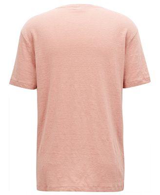 Hugo Boss Boss Mens Regular Classic Fit Linen T Shirt T Shirts Men Macys