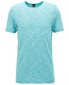 BOSS Men's Regular/Classic-Fit Cotton Mouliné T-Shirt