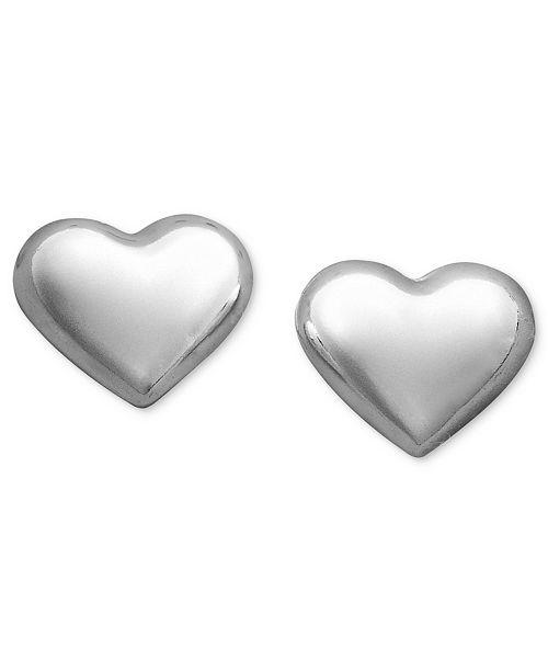 Giani Bernini Sterling Silver Earrings, Heart Stud Earrings