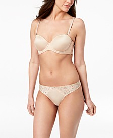 INC Multiway Strapless Bra & Smooth Lace Thong, Created for Macy's