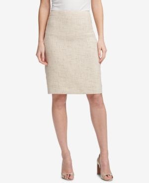 CROSSHATCHED PENCIL SKIRT