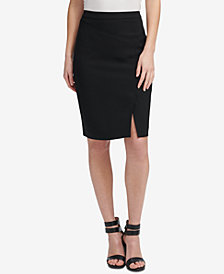 DKNY Side-Slit Pencil Skirt, Created for Macy's