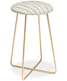 Deny Designs Iveta Abolina Mud Cloth Inspo Counter Stool