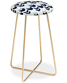 Deny Designs Little Arrow Design Co. Northern Lights Chevron Counter Stool