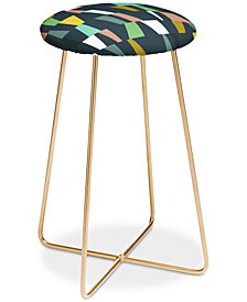 Deny Designs The Old Art Studio Modern Geometric Counter Stool