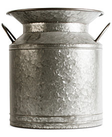 Home Essentials Galvanized Large Flower Bucket