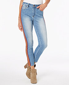 Dollhouse Juniors' Side-Stripe Skinny Jeans